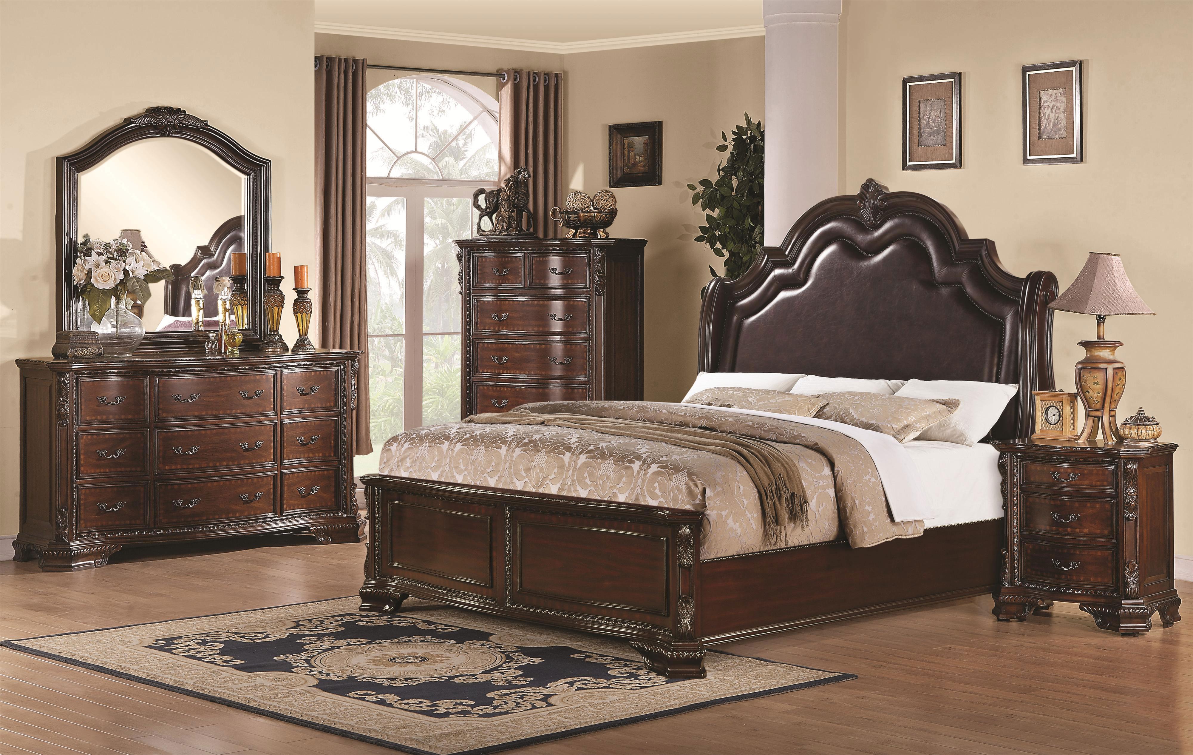 Manchester Upholstered Flotation Waterbed Bedroom Furniture