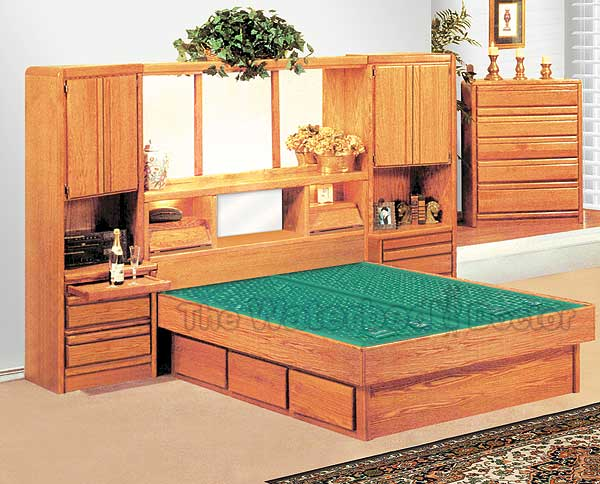Oak Waterbeds Bedroom Furniture Group Coronado - Waterbed bedroom furniture