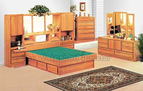 mixed wood bedroom furniture