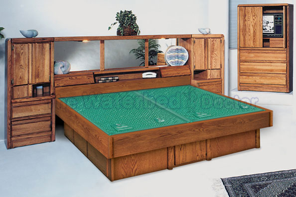 Oak Waterbeds Bedroom Furniture Group La Jolla Pier