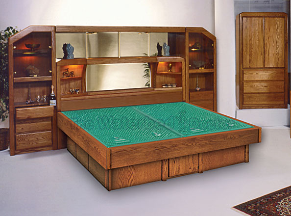 Oak Waterbed Bedroom Furniture Group Marathon