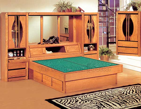 Oak Waterbed Bedroom Furniture Group Matrix - Waterbed bedroom furniture