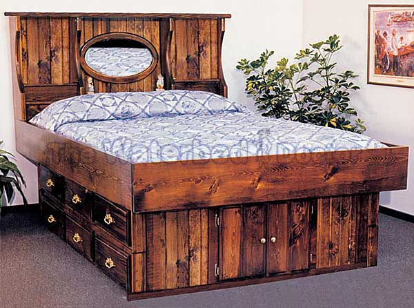 Pine Waterbed Furniture Crestwood