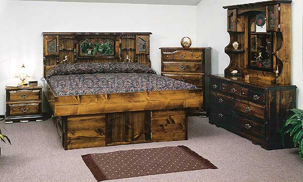 youth bed briarwood carolina rose