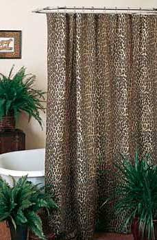 Leopard Shower Curtain Set