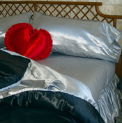 Satin Waterbed Sheets, Satin Comforters for Woodframe Waterbeds